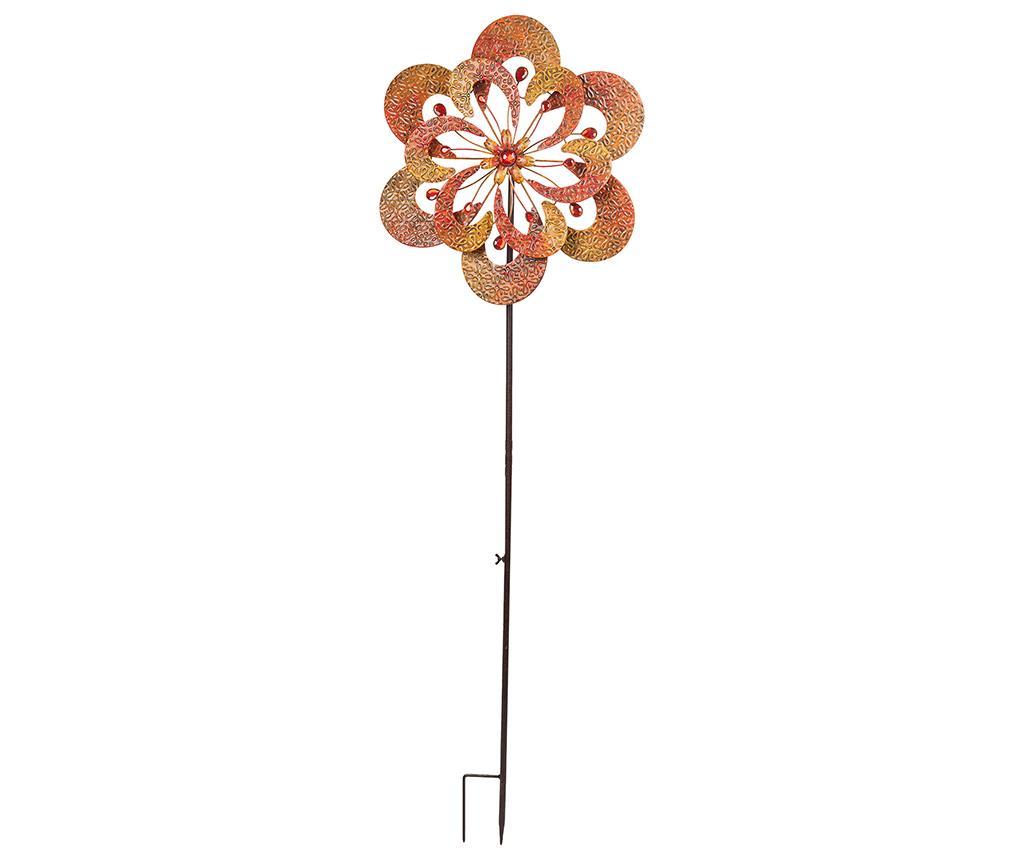 Moara de vant Flower Burst - Creaciones Meng, Galben & Auriu,Rosu