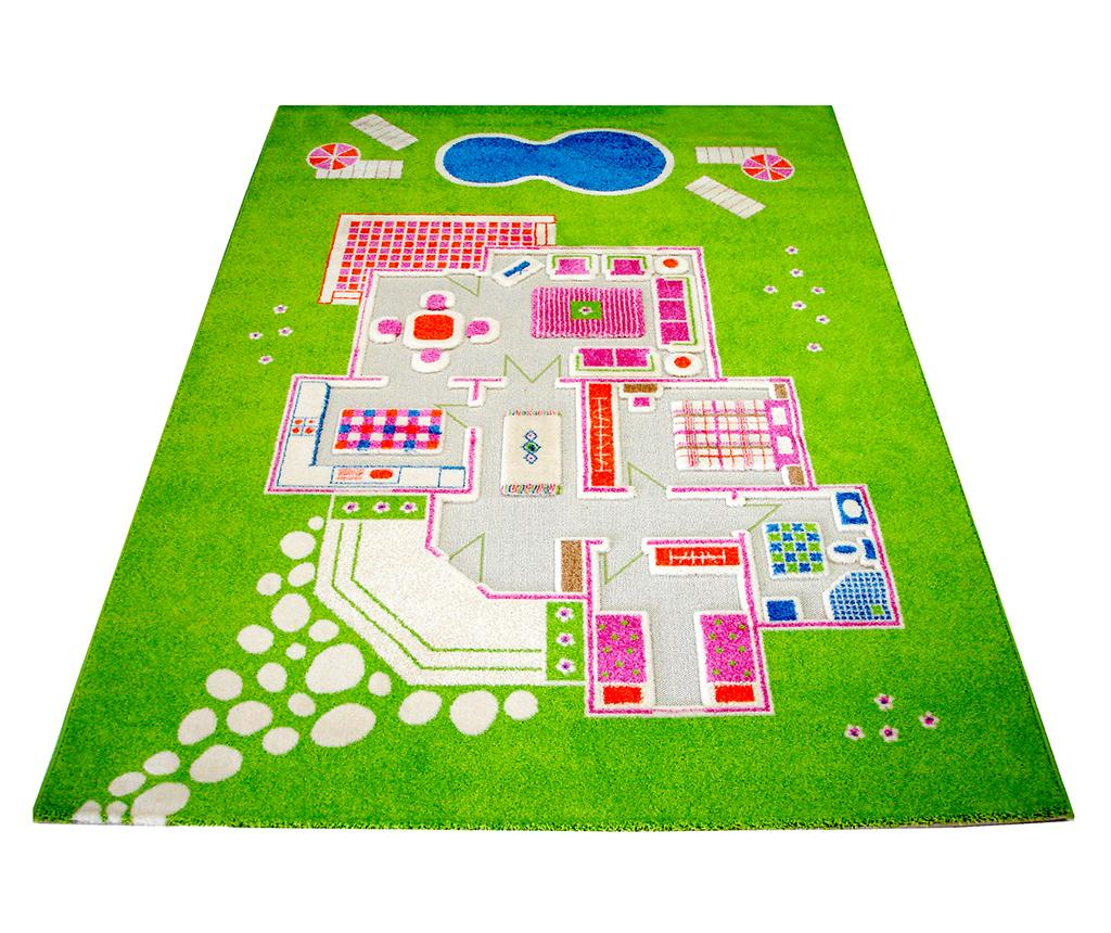 Covor de joaca Playhouse Big 3D Green 134x200 cm - Ivi, Verde