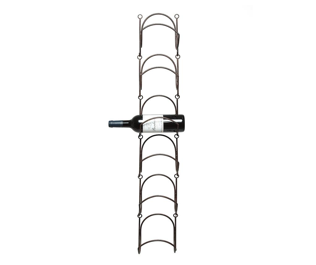 Set 6 suporturi pentru sticle Hanging - Ambiente Haus, Maro