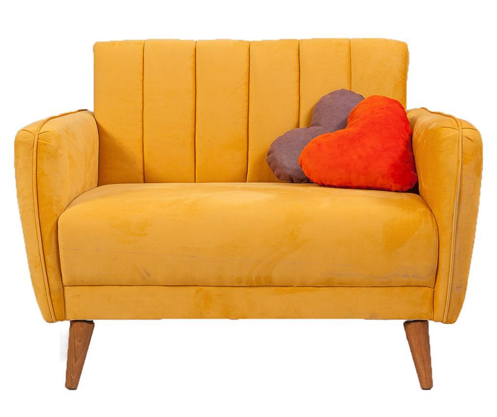 Fotoliu Libre Yellow - Unique Design, Galben & Auriu