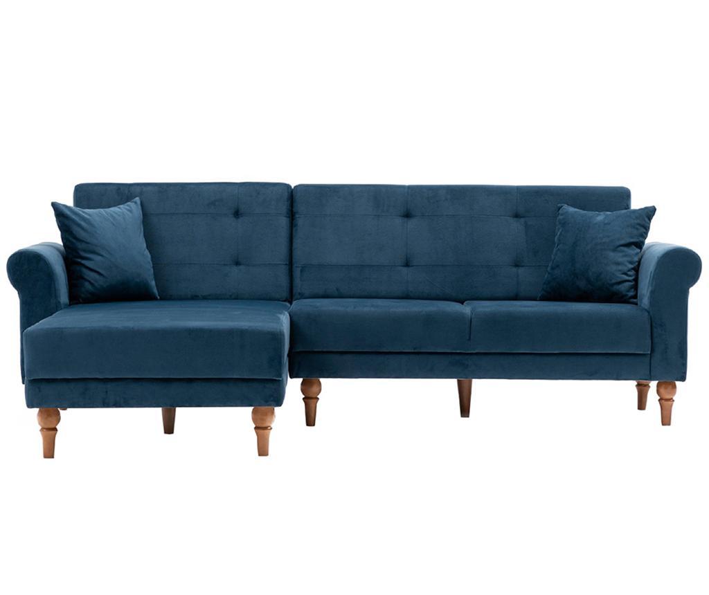Coltar extensibil stanga Madona Sax Blue - Balcab Home, Albastru