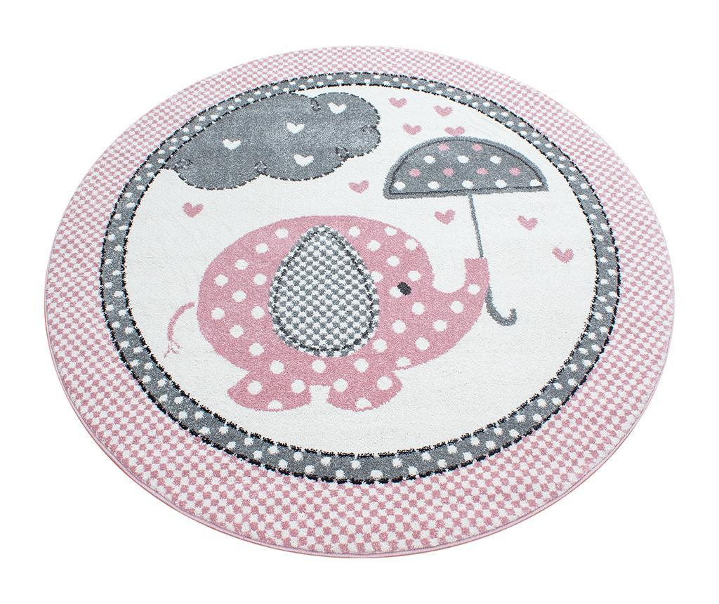 Covor Elephant Round Pink 120 Cm - Ayyildiz Carpet, Roz