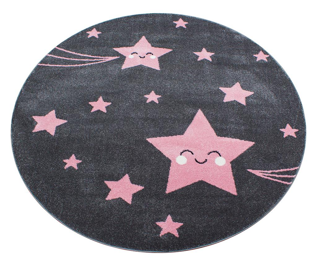 Covor Night Stars Round Pink