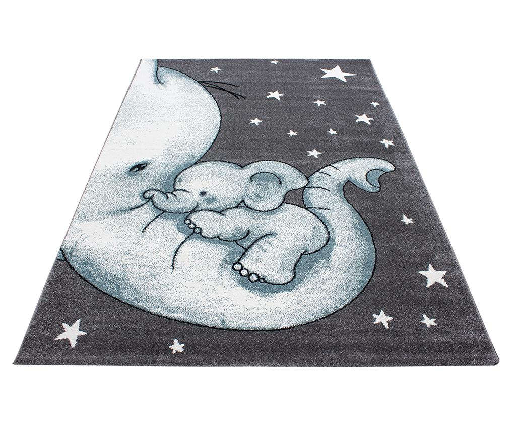 Covor Baby Elephant Blue 120x170 cm - Ayyildiz Carpet, Albastru