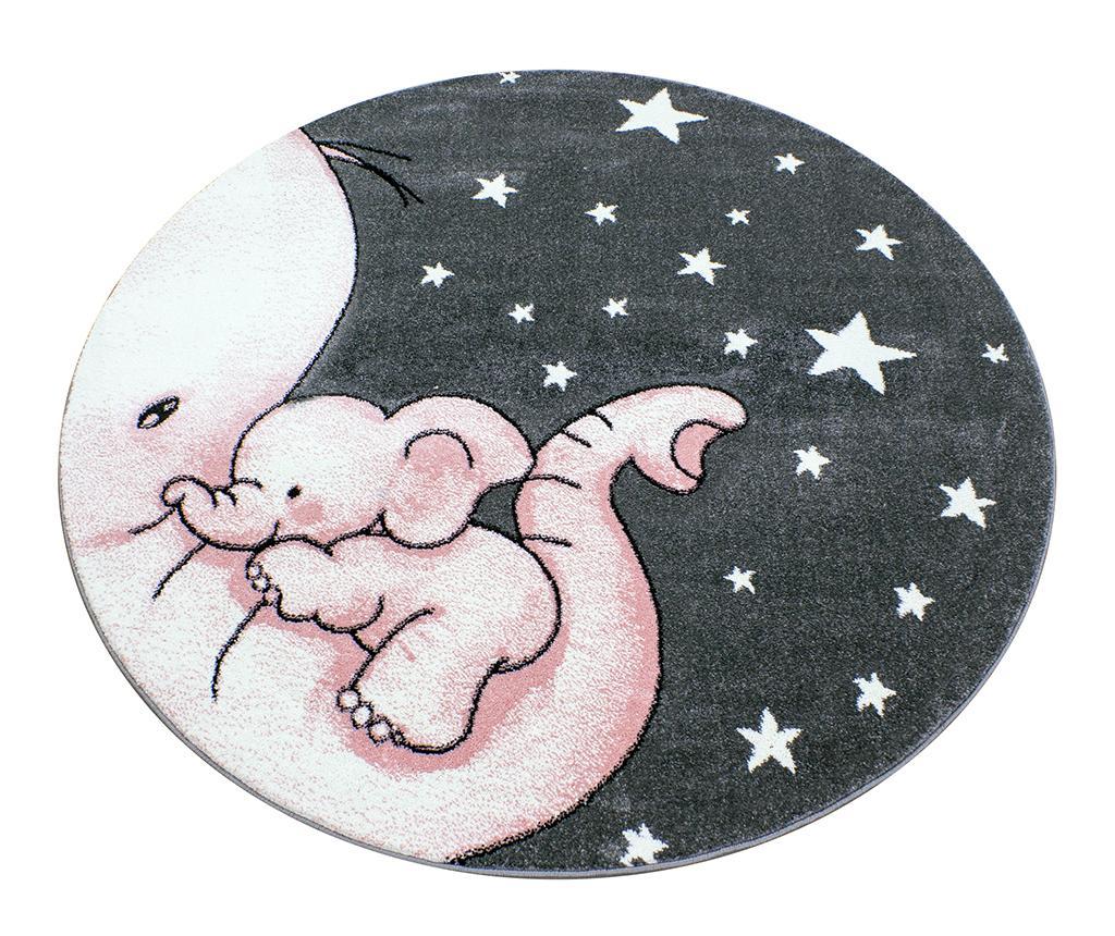 Covor Baby Elephant Round Pink 160 cm - Ayyildiz Carpet, Roz