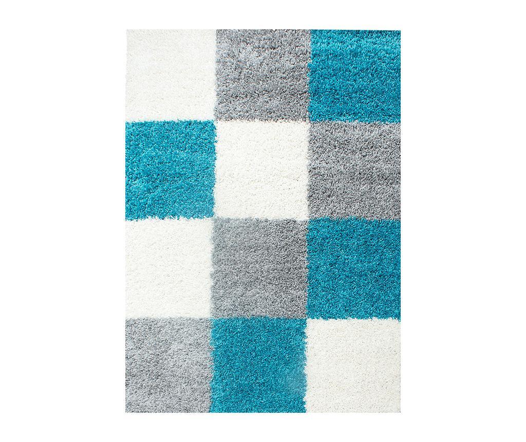 Covor Life Squares Turquoise 160x230 cm - Ayyildiz Carpet, Albastru