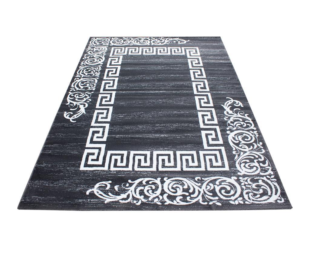 Covor Miami Motives Grey 120x170 Cm - Ayyildiz Carpet, Gri & Argintiu