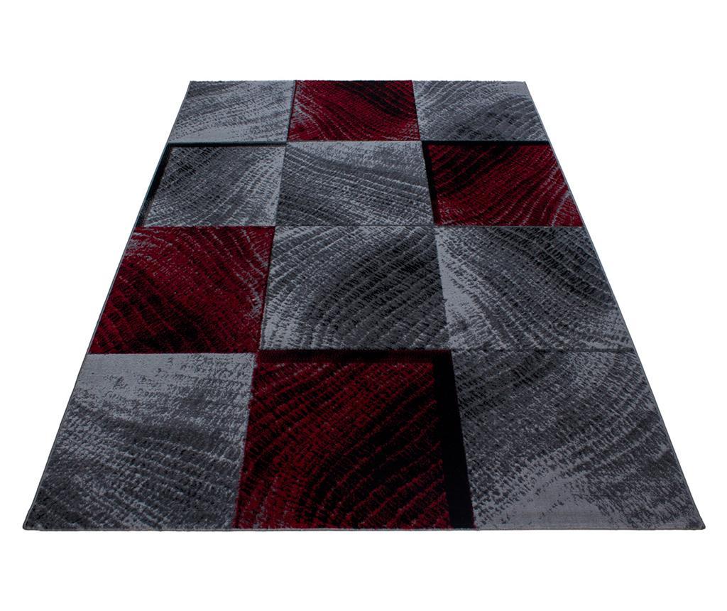 Ayyildiz Carpet Covor Plus Waved Squares Red