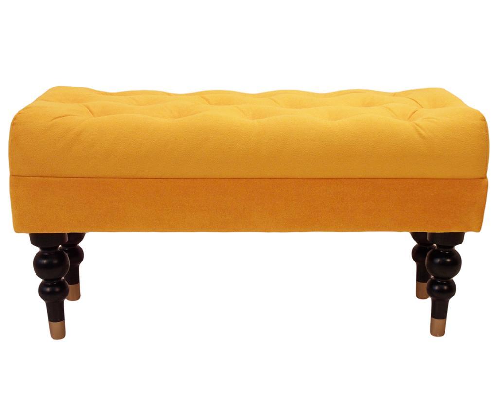 Bancheta Diyana Classic Yellow Galben Auriu