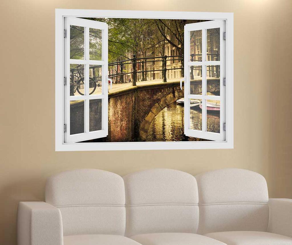 Sticker 3D Window Amsterdam Bridge - BeeStick, Multicolor