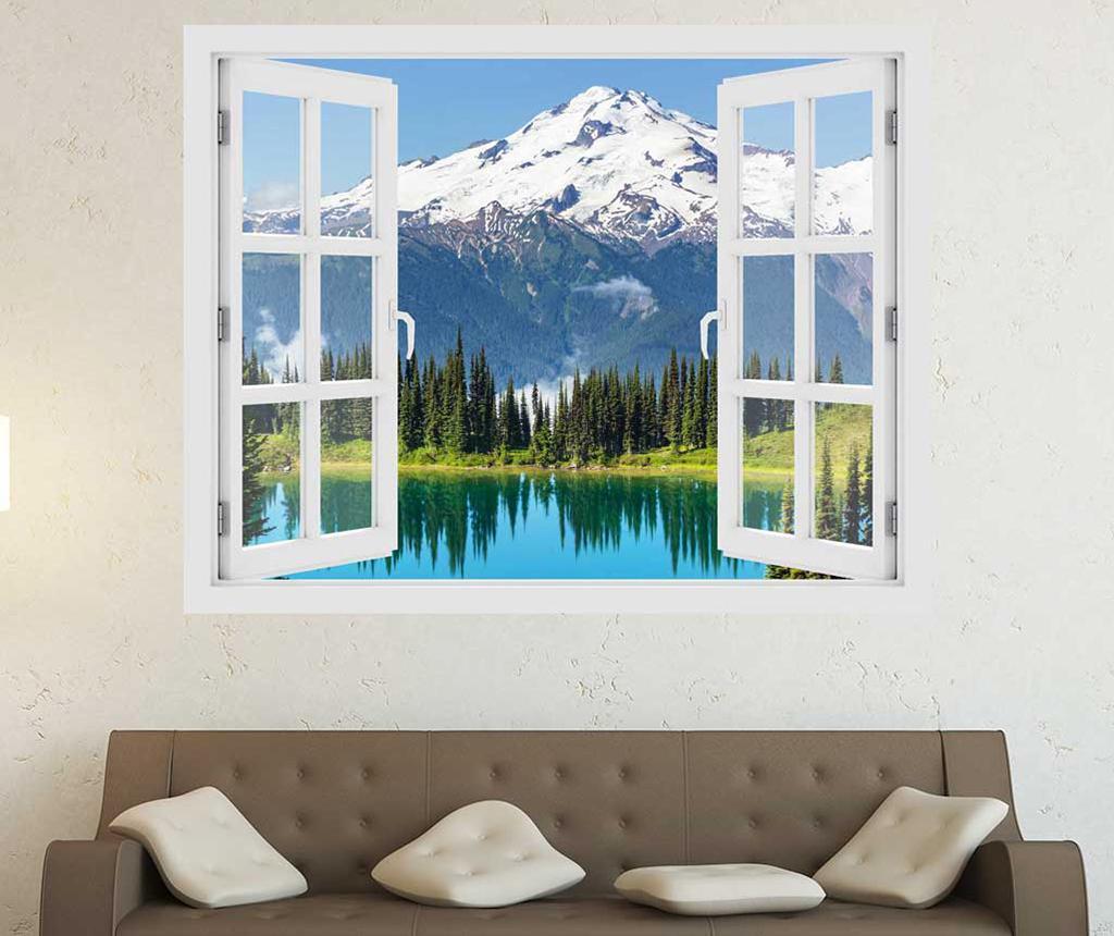 Sticker 3D Window Washington Glacier Peak - BeeStick, Multicolor