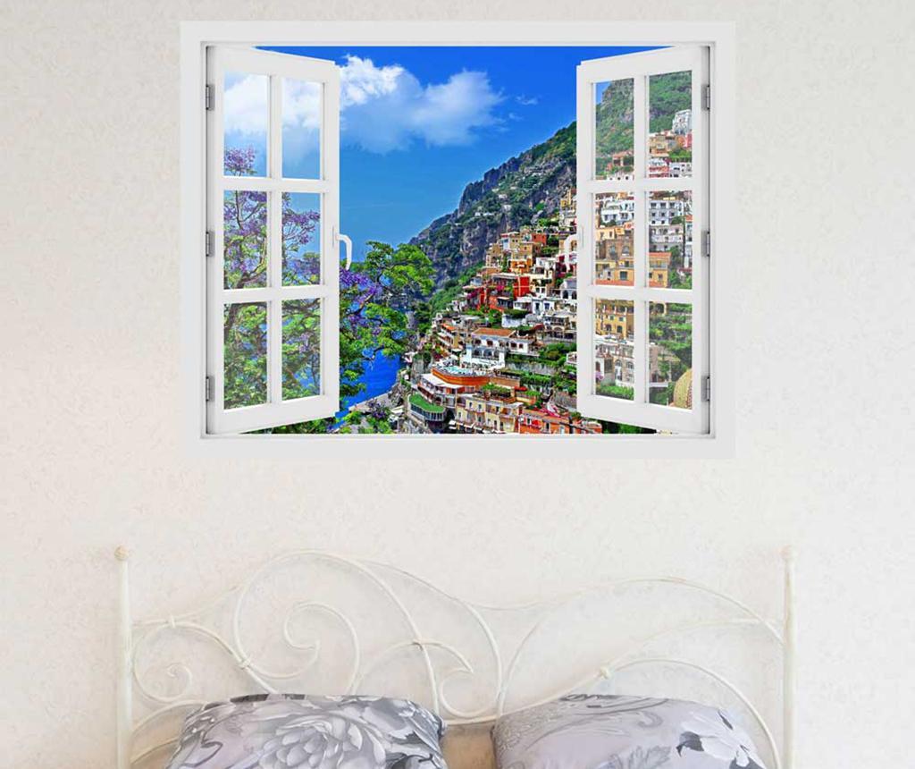 Sticker 3D Window Italy Positano - BeeStick, Multicolor