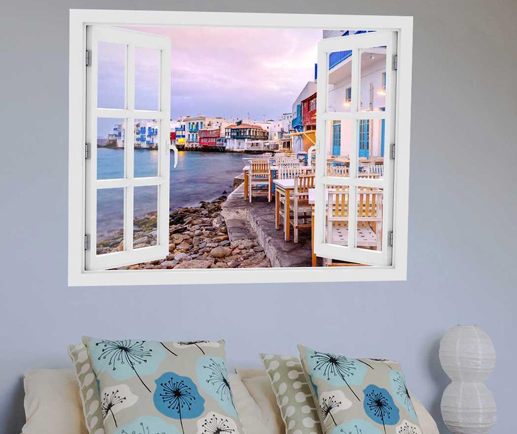 Sticker 3D Window Greece Cicladele - BeeStick, Multicolor