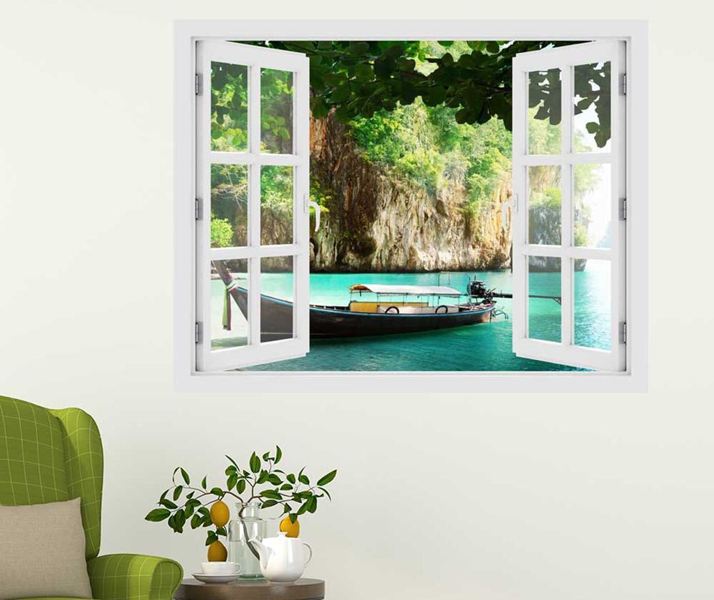 Sticker 3D Window Thailand Boat - BeeStick, Multicolor