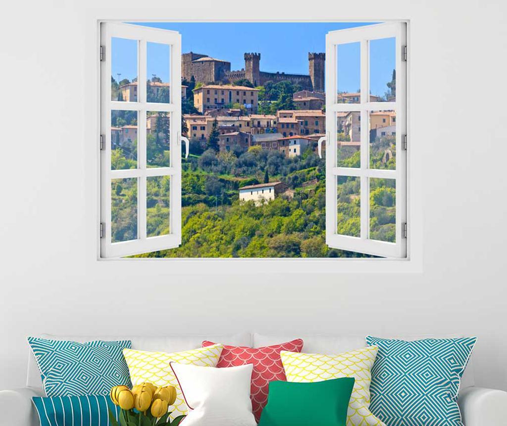 Sticker 3D Window Toscana Montalcino - BeeStick, Multicolor