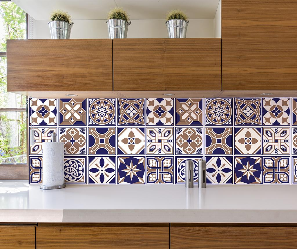 Set 24 stickere Tile Royal - Wallplus, Multicolor