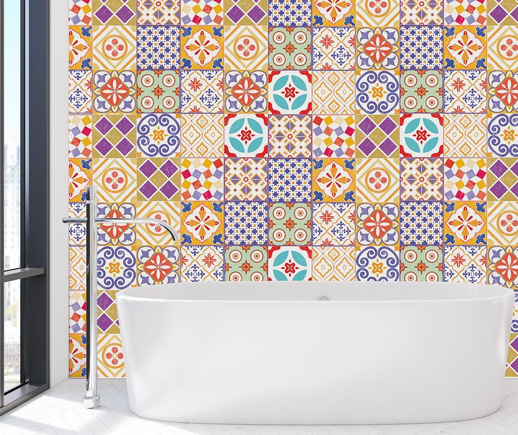 Set 24 stickere Morrocan Tiles - Wallplus, Multicolor