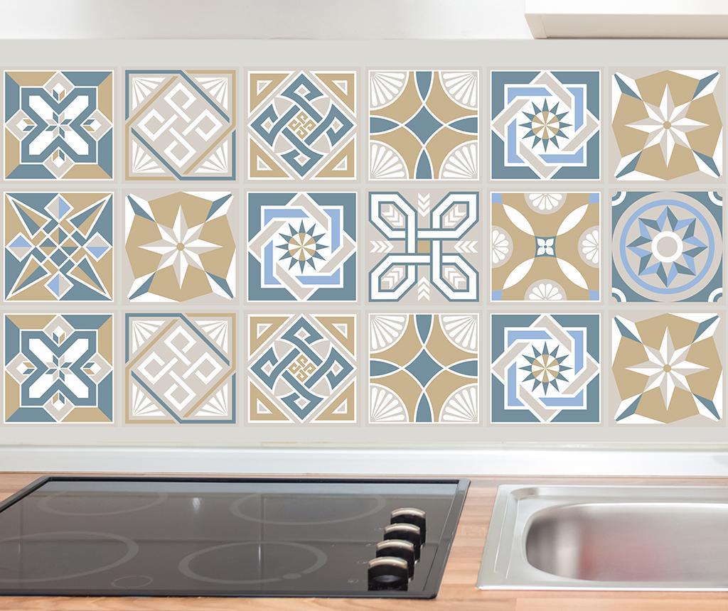Set 24 stickere Tiles Lyon - Wallplus, Multicolor