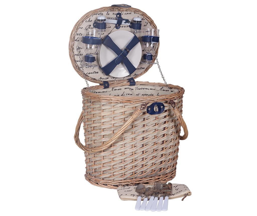 Cos echipat pentru picnic 2 persoane Sailor Tall - Creaciones Meng, Maro