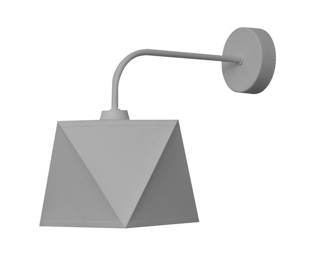 Aplica de perete Adamant Grey - Helam, Gri & Argintiu