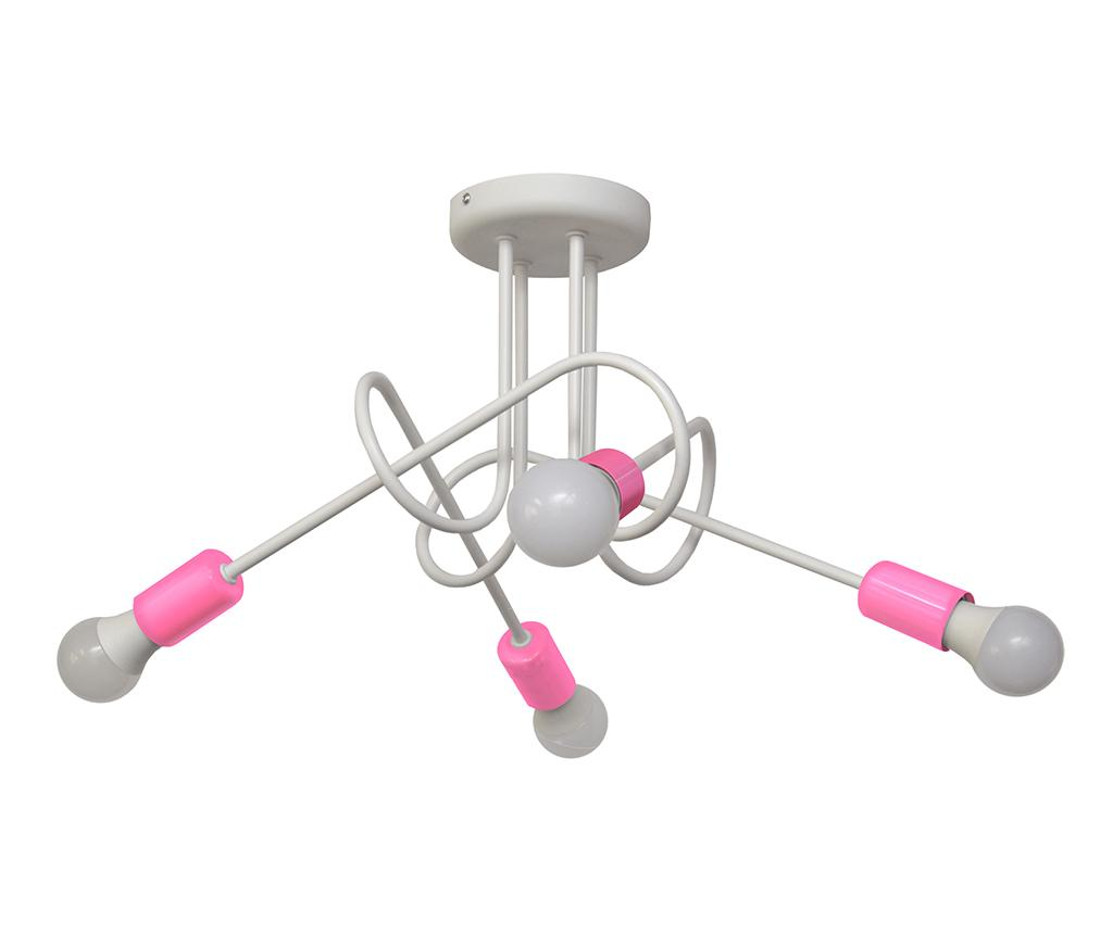 Lustra Oxford Oda Four White Pink - Helam, Alb,Roz