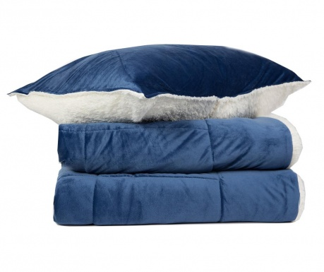 Set prekrivač King Extra Linosa Blue