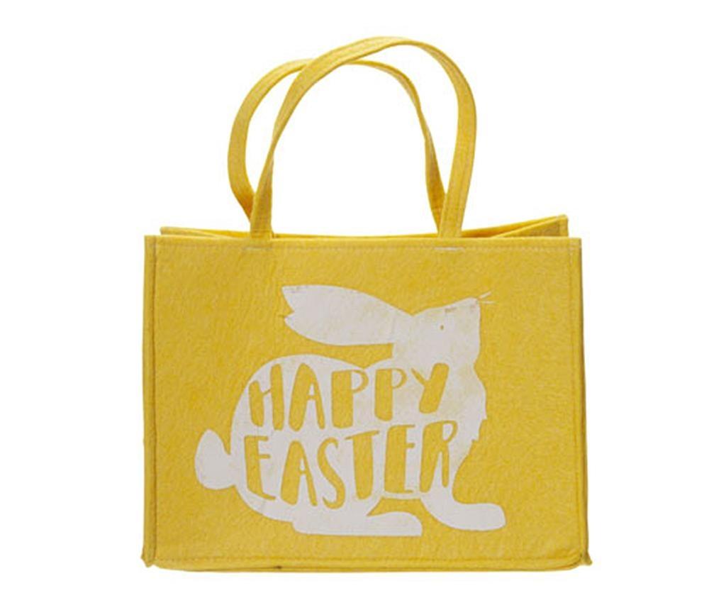Torba za kupovinu Happy Easter Yellow