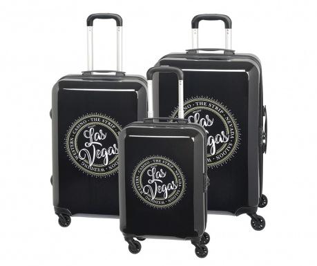 Set 3 kovčkov na kolesih Las Vegas Black