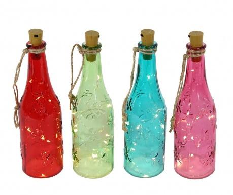 Zestaw 4 dekoracji świetlnych Fairy Bottles
