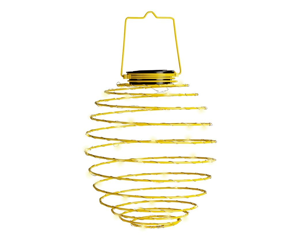 Spiral Yellow Napelemes lámpa
