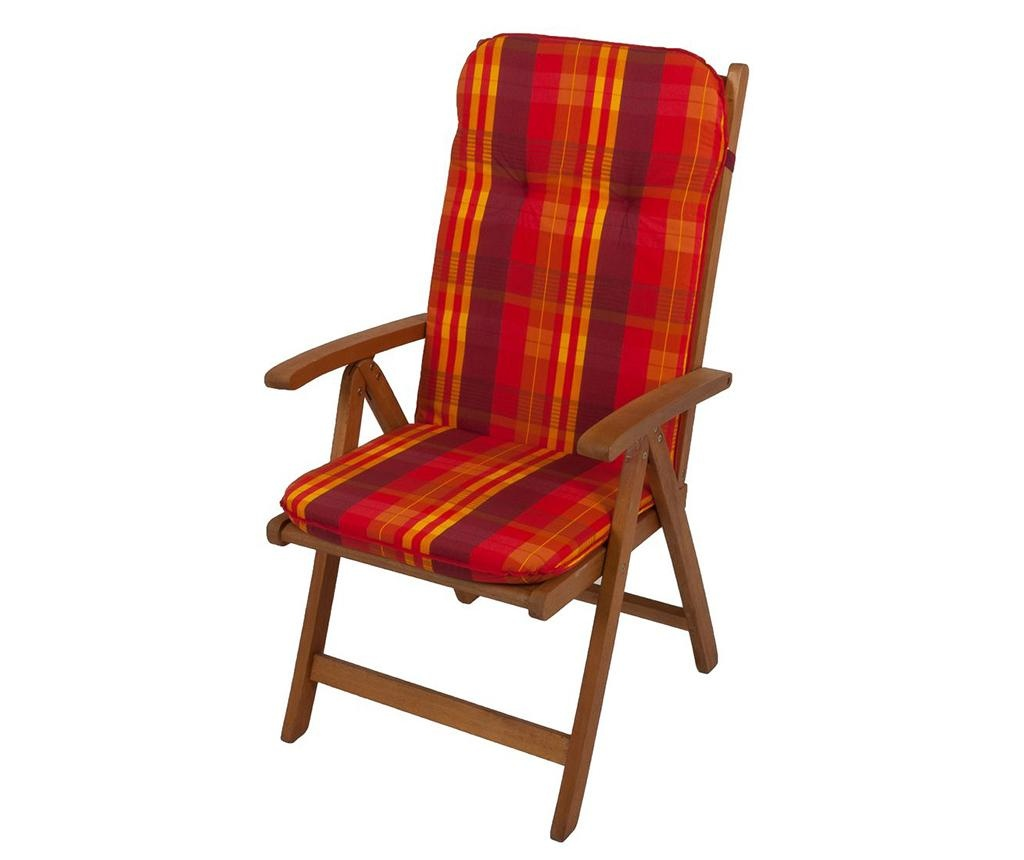 Sedežna in naslon blazina Layer Red Yellow 50x116 cm