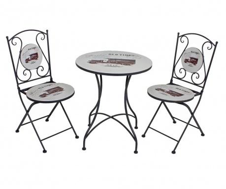 Комплект маса и 2 стола за екстериор Versal