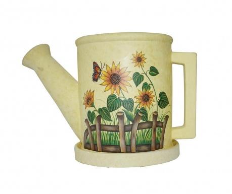 Саксия с тавичка Sunflower