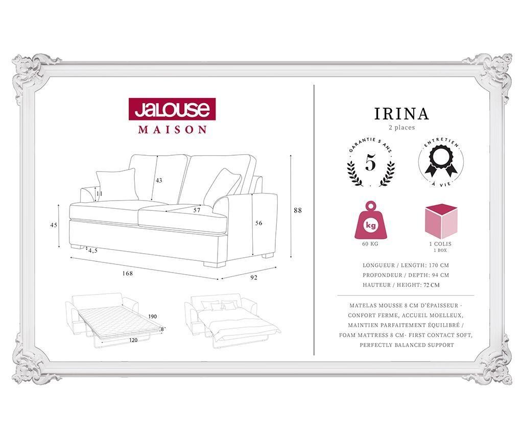 Sofa dvosjed na razvlačenje Irina Anthracite