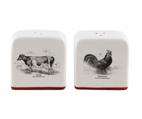 Sada soľnička a korenička Cow And Rooster
