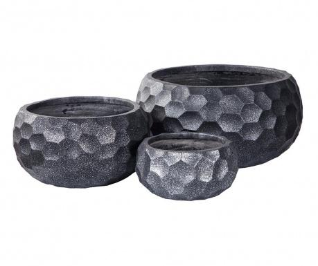 Комплект 3 поставки за саксии Concrete Pattern