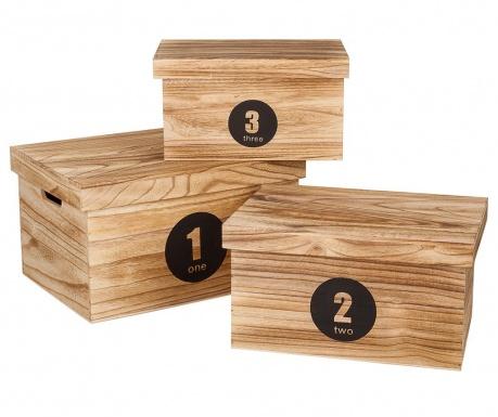 Комплект 3 кутии с капак за съхранение Numbers