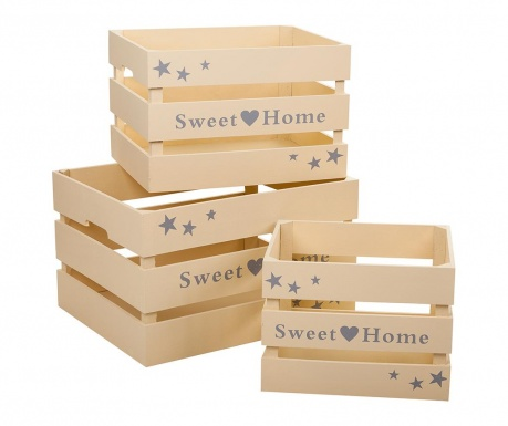 Set 3 sanduka za spremanje Sweet Home Cream