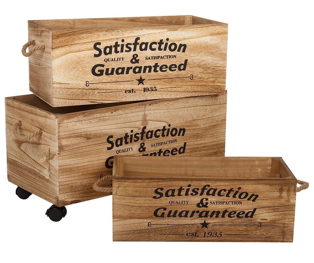 Set 3 lazi pentru depozitare Satisfaction Guaranteed