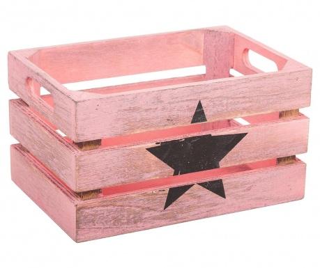 Shranjevalni zaboj Star Black Pink