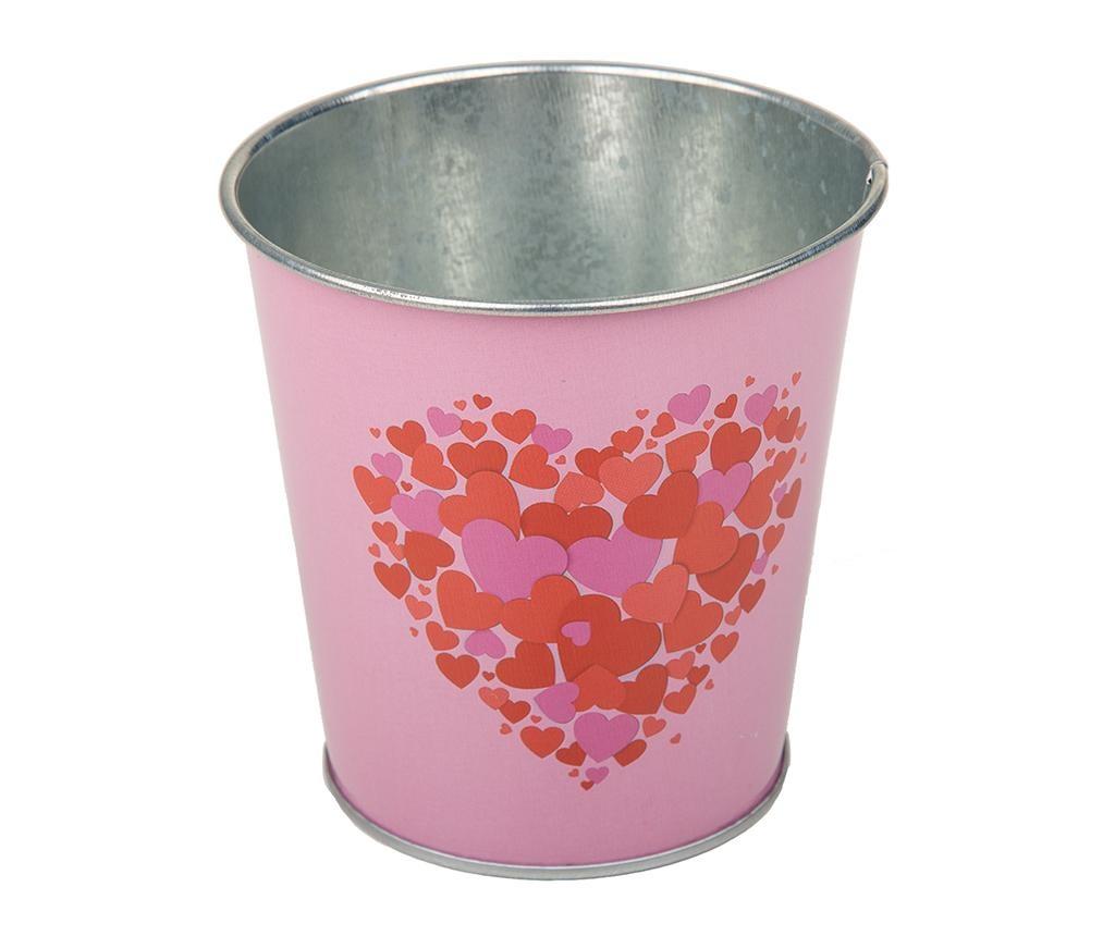 Cvetlični lonec Hearts Pink Red