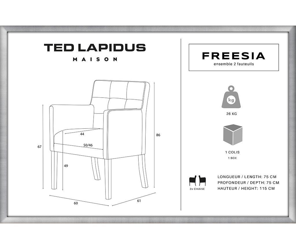 Set 2 scaune Freesia Brown & Ultramarine