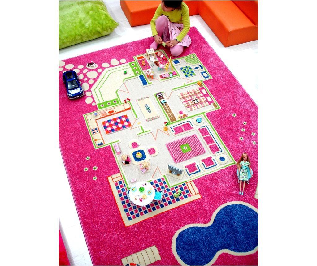 Covor de joaca Playhouse Long 3D Pink 160x230 cm