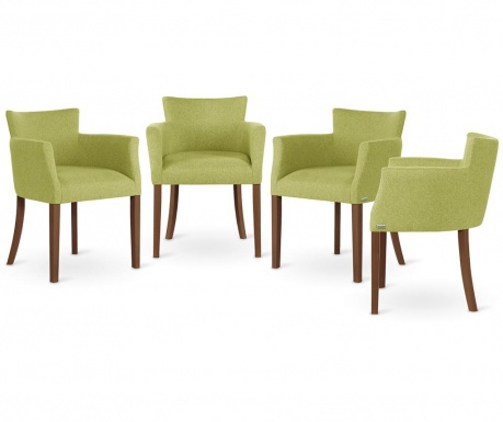 Set 4 stolov Santal Brown & Light Green