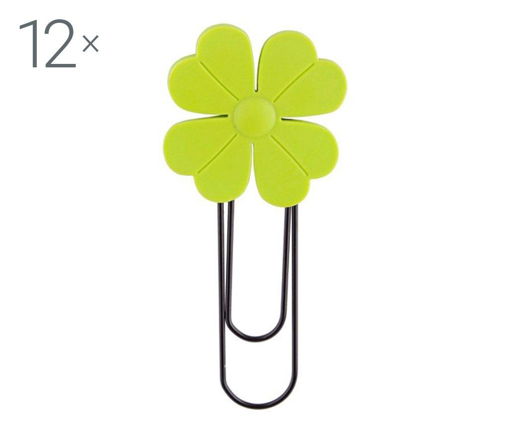 Set 12 semne de carte cu clips Lucky Charm