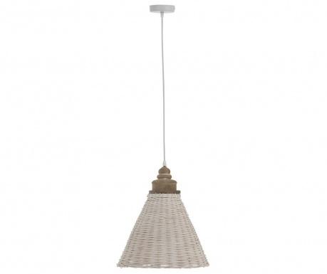 Lampa sufitowa Rattan Conic White