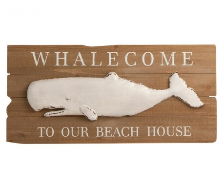 Dekoracja ścienna Whalecome Beach House
