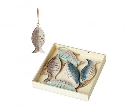Set 6 visečih dekoracij Fish