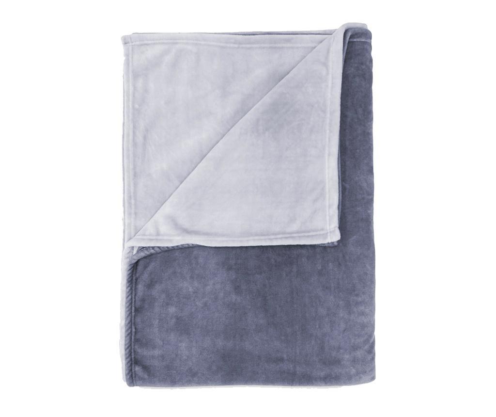 Pled Ombre Steel Blue 150x220 cm