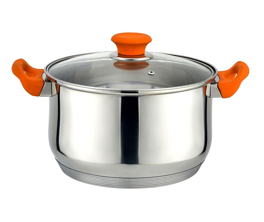 Posuda za kuhanje s poklopcem Muhler Orange 26 cm